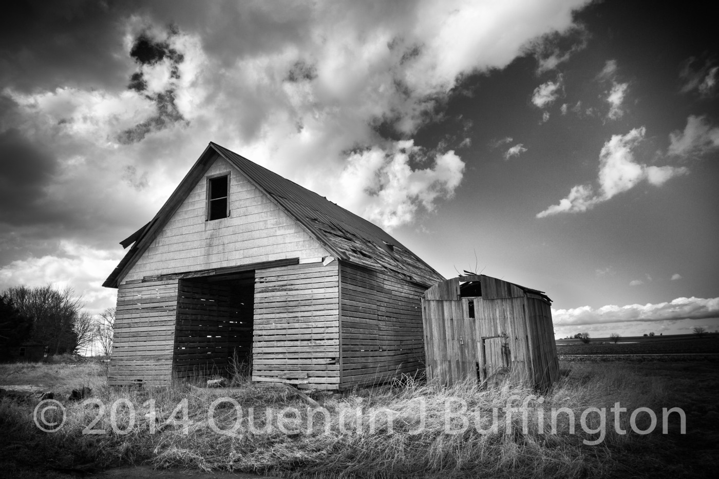A weathered old barn in Putnam County on a cold late winter day as the sun was melting the snow!