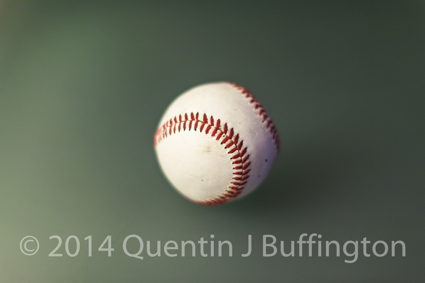 A baseball waiting for opening night!
